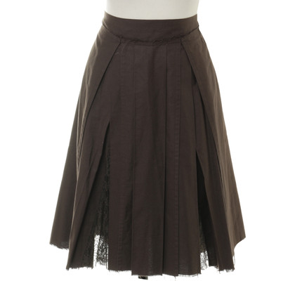 Philosophy di Alberta Ferretti skirt with lace inserts