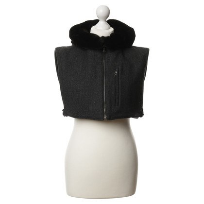 Prada short vest with fur lining