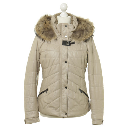 Baldinini Quilted Jacket with leather with fur