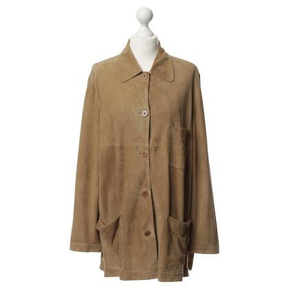 Altre marche Sylvie Schimmel - giacca di pelle scamosciata in marrone chiaro