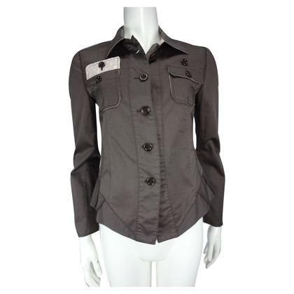 Marc Cain Brown blouse with pink details