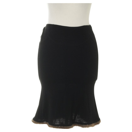 Blumarine skirt with rabbit fur trim