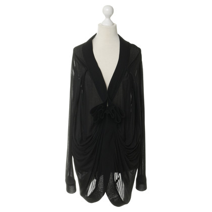 Donna Karan Cardigan with Ruffles
