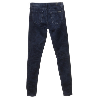 """7 For All Mankind Jeans """"The Skinny"""" with pattern"""