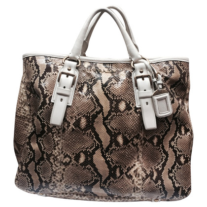 Prada XL Python leather shopper