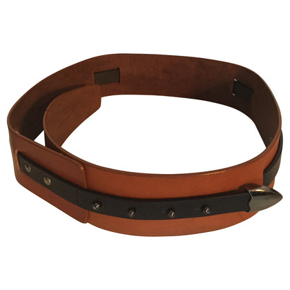 Wood Wood Leather waist belt