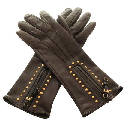 Prada Handschoenen met drukknopen