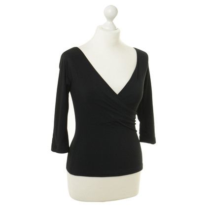 Donna Karan Wrap top in dark blue