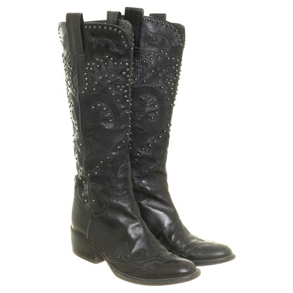 Other Designer SHY - cowboy boots with studs trim