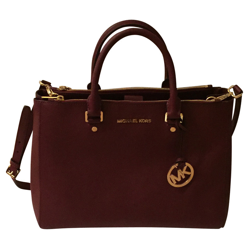michael kors handtasche in bordeaux second hand michael kors handtasche in bordeaux gebraucht. Black Bedroom Furniture Sets. Home Design Ideas