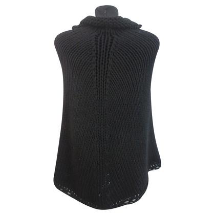 Armani Collezioni Poncho in chunky knit