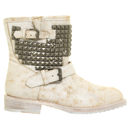 Ash Biker Boots in Crackling Optik
