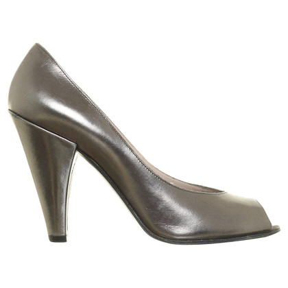 Marc by Marc Jacobs Peep-toes in metallic anthracite