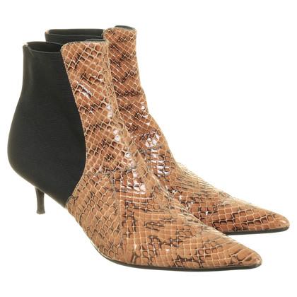 Dolce & Gabbana Stiefeletten mit Schlangenleder
