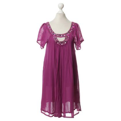 Antik Batik Kleid mit Schmucksteinen