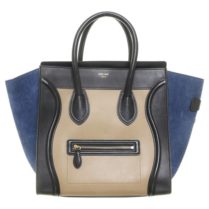 Céline Phantom bag with suede