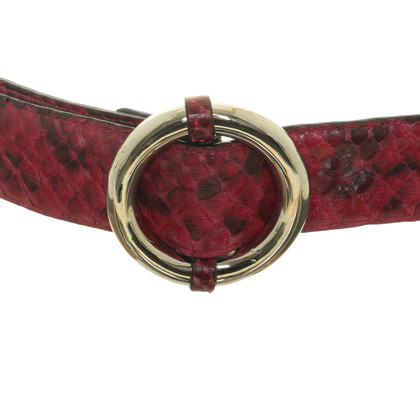 Dolce & Gabbana Python belt in pink