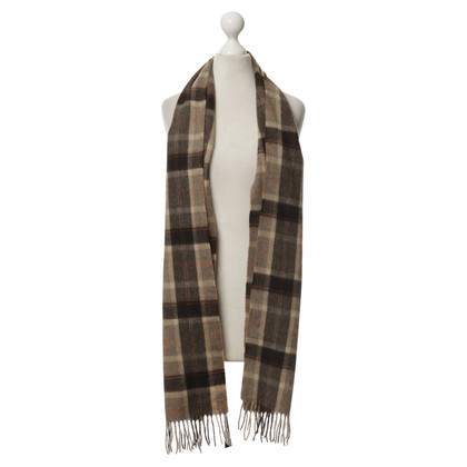 Other Designer John Hanly - scarf with checked pattern