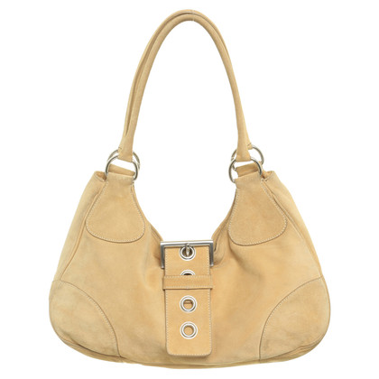 Prada Tote suede leather