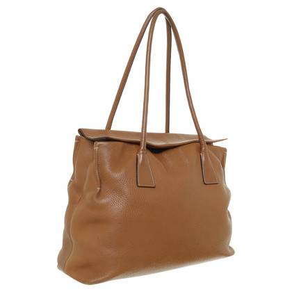 Jil Sander Leather handbag in Cognac Brown