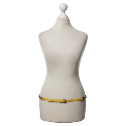 Bottega Veneta Leather belt in yellow with black chain