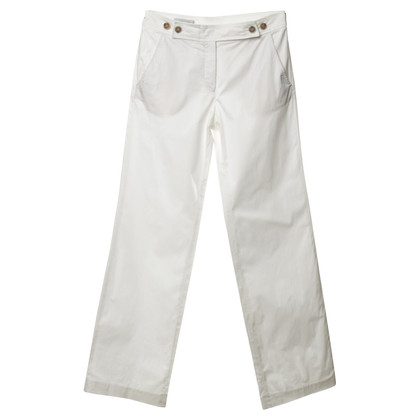 René Lezard Cotton trouser in white