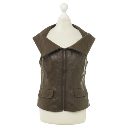 BCBG Max Azria Leather vest in Brown