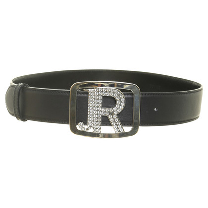 Richmond Black belt with statement buckle