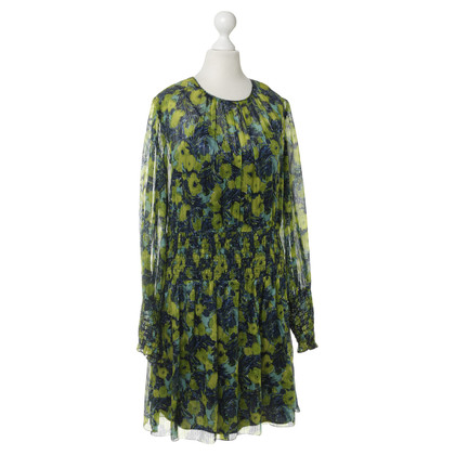 Anna Sui Silk dress with floral print