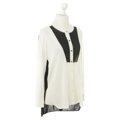 Rodier Lightweight Cardigan in black and white