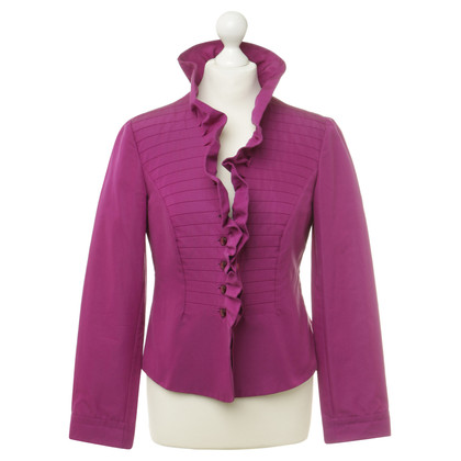 Armani Collezioni Jacket with decorative stitching and ruffles