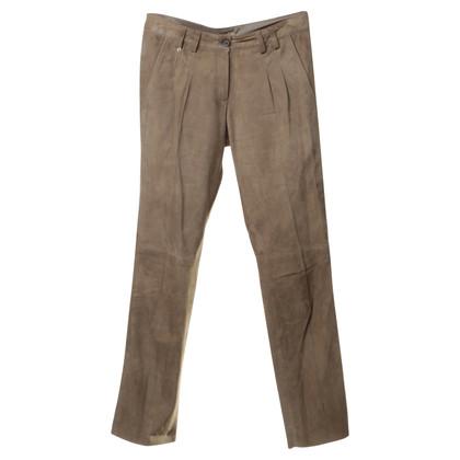 Aigner Pantaloni in suede beige