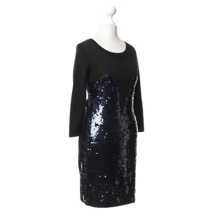 Markus Lupfer Knit dress with sequin trim