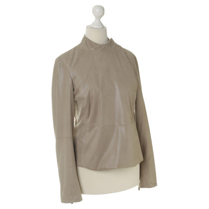 Armani Collezioni Leather jacket in beige