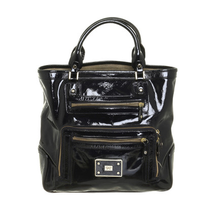 Anya Hindmarch Lackledertasche in Schwarz