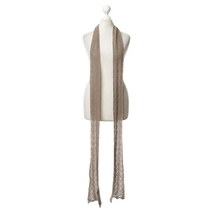 Other Designer Johnston's - cashmere scarf in natural colours