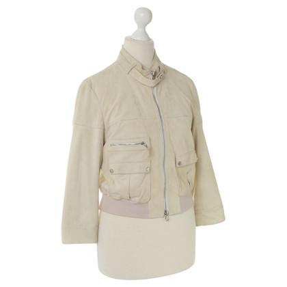 Brunello Cucinelli Suede jacket in light beige