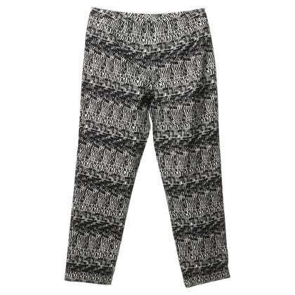 Donna Karan Pantaloni di cotone in bianco e nero