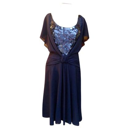 Laurèl zijden jurk met pailletten