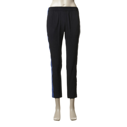 Marc by Marc Jacobs Silk pants in black blue