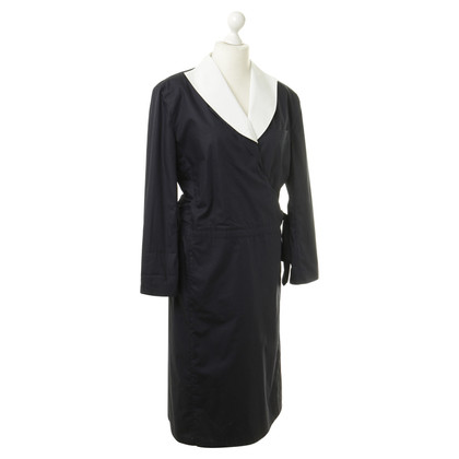 Giorgio Armani Wrap dress in white and blue