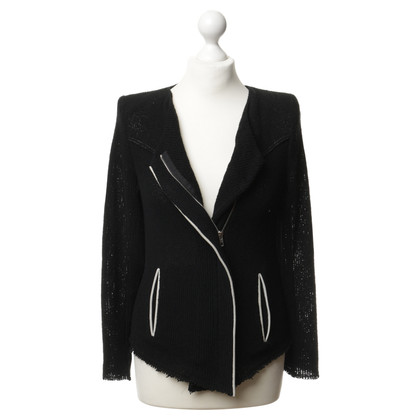 Iro Jacket with leather piping