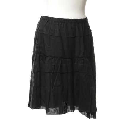 Prada Linen skirt in black