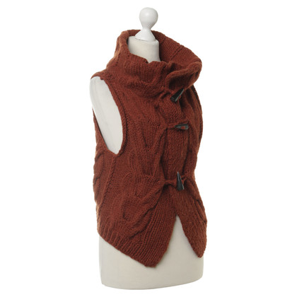 Drykorn Gilet maglione in rosso-marrone