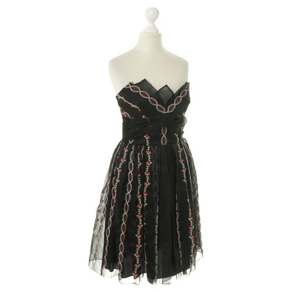 Anna Sui Corsage dress in black/red