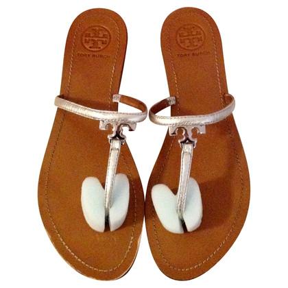 Tory Burch Sandals in metallic look