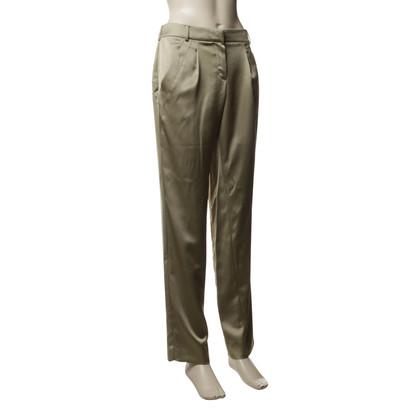 Armani Pantaloni iridescenti in verde chiaro