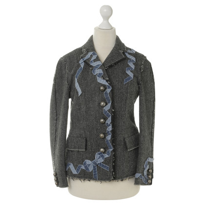 Moschino Cheap and Chic Blazer mit Samt-Zierband