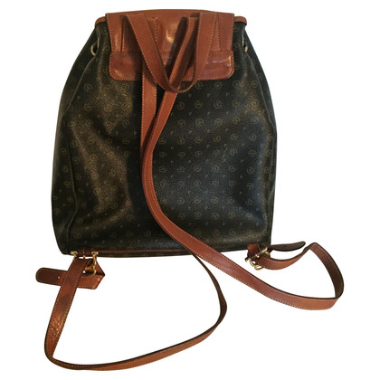 Pollini  Monogram of canvas backpack