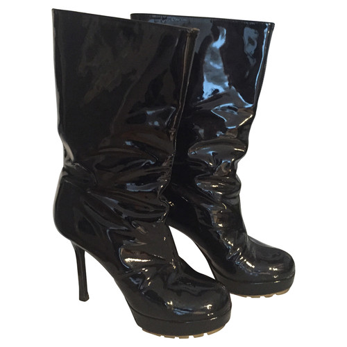 f1405e46b58 Yves Saint Laurent Ankle boots patent leather - Second Hand Yves ...